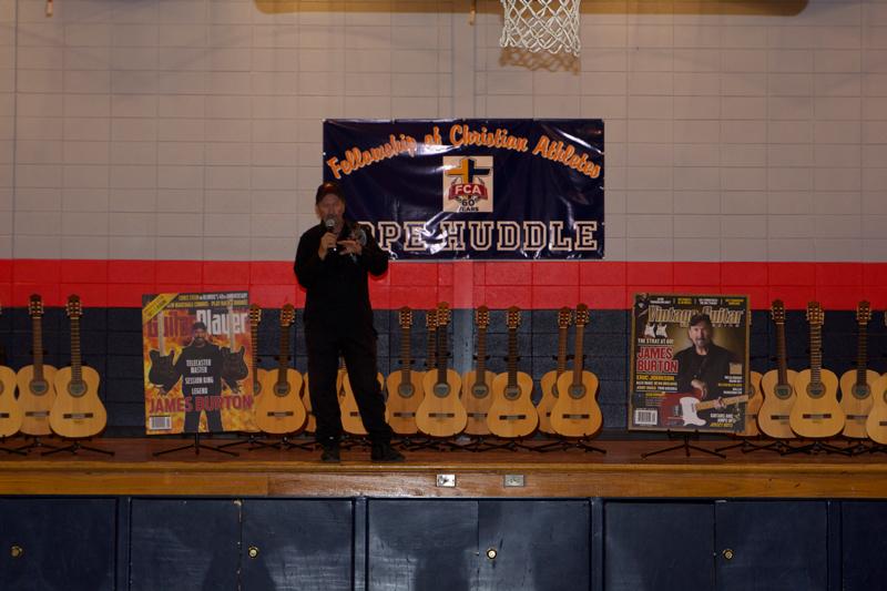 JB giving guitars to kids
